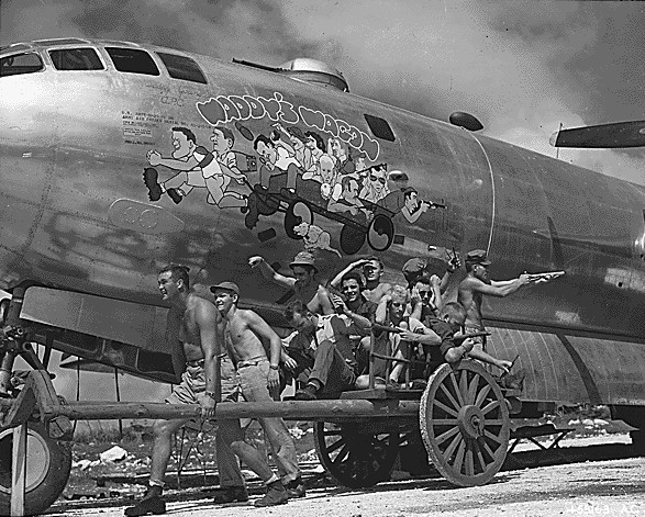 B-29_Wadddys_Wagon_nose_art_1944